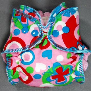 Newborn Little Boppers� Hybrid Fitted<br> ~ Multi Butterfly Pink ~