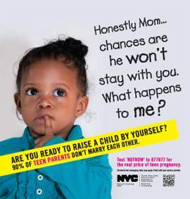 NYC's Anti-Teen Pregnancy Ad Campaign Hurts More Than Helps